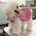 Heißer Verkauf Kühlanker Streifen Sommer Frühling Hund Welpen Kleid Kleidung Hund T-shirt