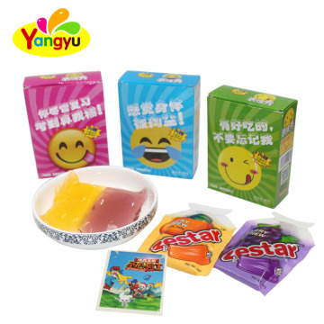 Expression pattern jelly candy with sticker