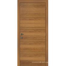Modedesign Holztür, Eingangstür rustikal Holz, traditionelle Kiefer Holzfurnier Tür