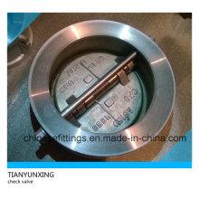 Válvula de retención de mariposa de doble oblea de acero inoxidable de acero inoxidable ANSI