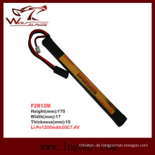 Firefox 7.4V 1200mAh Lipo Li-Po Li-Polymer T Form Akku 20 c