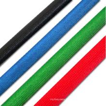 Luva trançada livre do vidro de fibra do tubo da fibra de vidro do silicone do halogênio colorido