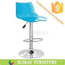 Taburete de bar de acrílico de alta calidad Taburete de bar Perspex azul Sillas