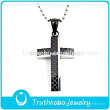 2016 projeto original religiosa jóias pedra preta de aço inoxidável sonho significado cruz pingentes à venda