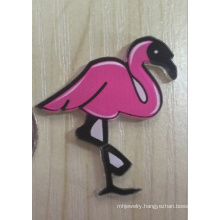 Cute Ostrich Brooch with Rose Red Color