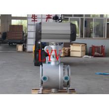 Válvula De Esfera De Aço Inoxidável Soldada Pneumática
