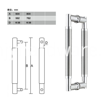 Tempered Glass Shower Door Handle