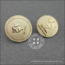 Épinglette ronde argentée, insigne organisationnel (GZHY-LP-018)