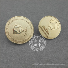 Pino de lapela redonda prata, Crachá Organizacional (GZHY-LP-018)
