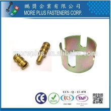 Taiwán Acero inoxidable 18-8 Soporte de latón de cobre Apoya Soporte de estante de gabinete Soporte de vidrio Soporte de plástico