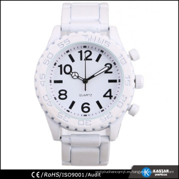 2015 hombre de ginebra reloj de color blanco