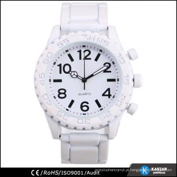 2015 homem genebra relógio branco cor