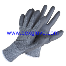 13 Gauge Nylon/Cotton/Spandex Liner, PU Coated Glove