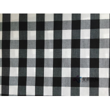 High+Quality+White+And+Black+Check+Cotton+Fabric