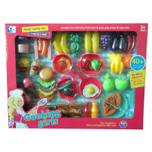 Kitchen Cooking Cutting Food Play Toys for Kids