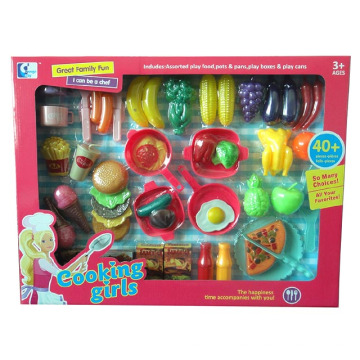 Cocina, cocina, corte, comida juega, juguetes, para, niños