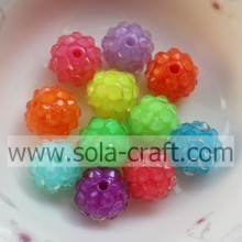 Mix Color 16*18MM Fluorescence Effect Resin Rhinestone Beads for Necklace