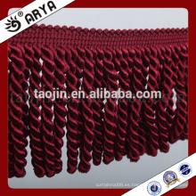 Franja simple de la borla del cepillo del diseño para la decoración de la tela de la cortina y del hogar