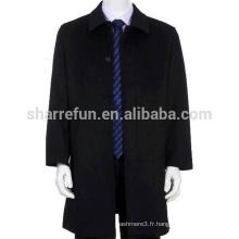 Manteau en cachemire personnalisé de haute qualité pour hommes avec prix d'usine