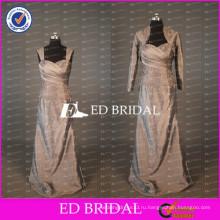 Элегантный Cap Рукавом Длинные Тафта Платье Для Матери Невесты С Длинный Рукав Куртка