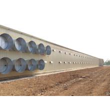 Полуфабрикат светлая стальная структура дом цыпленка с оборудованием (сайт kxd-SSC1501)