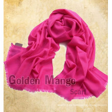 Bufandas de pashmina de lana de gran tamaño de color liso / sólido