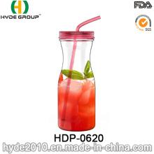 O plástico popular de 32oz BPA livra a garrafa do suco, garrafa de água fresca do suco (HDP-0620)