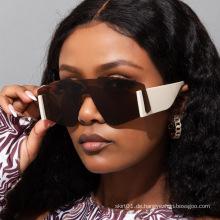Neue Mode einteilige Sonnenbrille mit großem Rahmen Europäische und amerikanische Trend-Männer- und Damen-Sonnenbrille mit breitem Bein, grenzüberschreitend avan