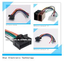 Arnés de cableado estéreo de radio estéreo automotriz de ISO / ODM 18 Pin Audio ISO para el coche