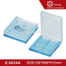 E-0034A синий тени для век палитра пластиковый косметический упаковочный чехол для теней