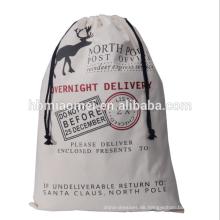 Weihnachtssublimations-Sankt-Sack-Geschenk-100% Baumwolle Kordelzug-Weihnachtsbeutel