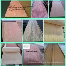 Placage en bois ébène machiné par prix bas pour des meubles
