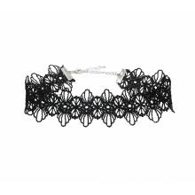 Vintage Punk Short Black Lace Velvet Choker Halskette für Frauen, Mode Tattoo Halskette Halsband Schmuck