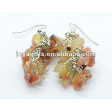Grape Shaped Red Agade Gemstone Earring