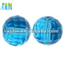 Perles de boule disco en cristal à facettes 96 chinois 5003 / perles de couleur aigue-marine