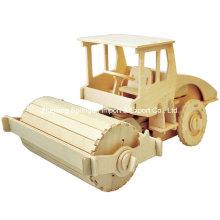 Boutique Farblose Holz Spielzeug Fahrzeuge-Road Roller