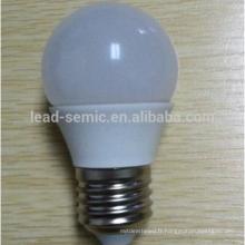 Prix d'usine en Chine E14 Ampoule à éclairage LED en aluminium et plastique G45