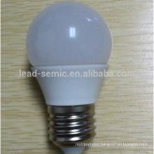 China factory price E14 Aluminium and plastic led lighting bulb G45