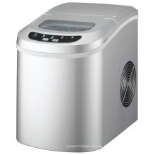Máquina de fabricación de cubitos de hielo de sobremesa de plata portátil compacta fabricante de cubitos de hielo