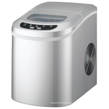 Compact Portable Silver Ice Maker Countertop Ice Cube Maker Machine