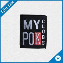 100% étiquettes tissées en polyester / étiquettes principales pour la marque Man's Apparel