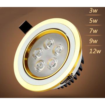 3W / 5W / 7W / 9W / 12W LED Downlight para iluminação de loja e loja