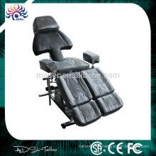 Professional Foldable Black Tattoo cadeira, cama de tatuagem, Tattoo Furniture