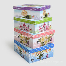 Customized Printing Paper Storage Gift Box / Nesting Paper Packing Boxes
