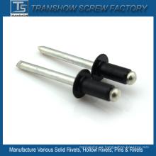 Remache para persiana negro aluminio 3.2X18mm