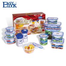 Conjunto de recipientes de almacenamiento de alimentos de cocina de microondas PP