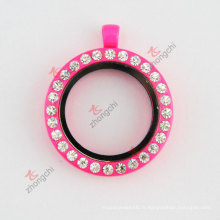 Collier de mode en forme de verre à laque 40mm Hot Pink (# 29)