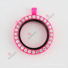 30мм ожерелье из горячего розового лакового стекла ожерелье (# 29)
