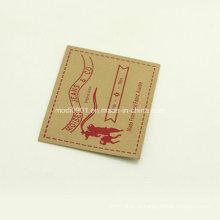 Кожаный значок для Жан [Материал Кожа, микрофибра замша кожа] Кожевенный завод Оптовая кожа этикетка патч