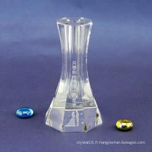 Vase en verre cristal spécial pour les décorations de mariage